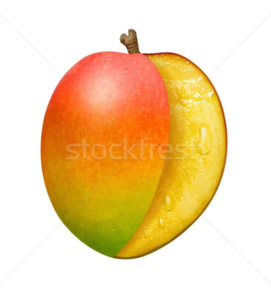 Sliced Mango isolated Stock photo © danny_smythe