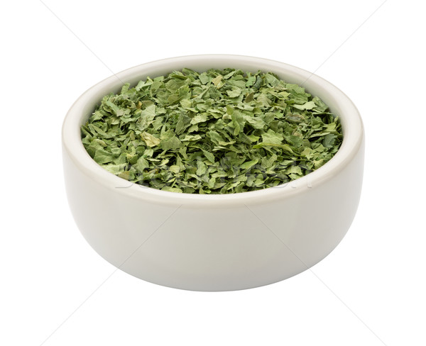 Dried Cilantro in a Bowl isolated Stock photo © danny_smythe