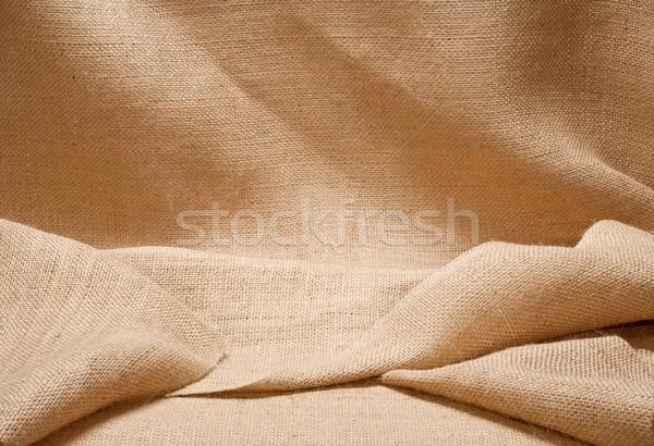 çuval bezi göstermek arka plan doku kumaş bez Stok fotoğraf © danny_smythe