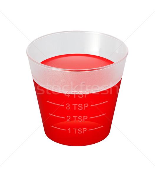 Köhögés szirup gyógyszer csésze vágási körvonal izolált Stock fotó © danny_smythe