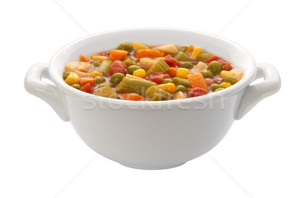 Vegetable Soup Bowl (clipping path) Stock photo © danny_smythe