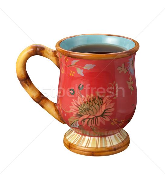 çay fincanı yalıtılmış beyaz içmek fincan Stok fotoğraf © danny_smythe