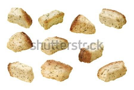 Izolált fehér textúra kenyér saláta tárgy Stock fotó © danny_smythe