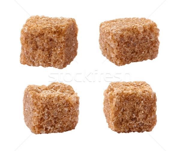 Zucchero di canna isolato bianco cubo Foto d'archivio © danny_smythe