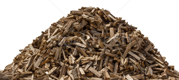 Woodpile isolated on white Stock photo © danny_smythe