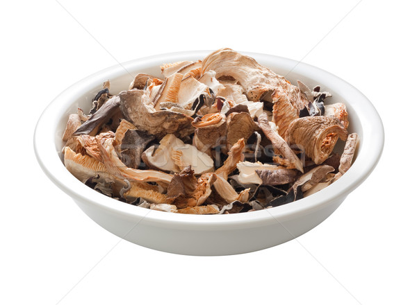 Stir Fry Dried Mushrooms with a clipping path Stock photo © danny_smythe