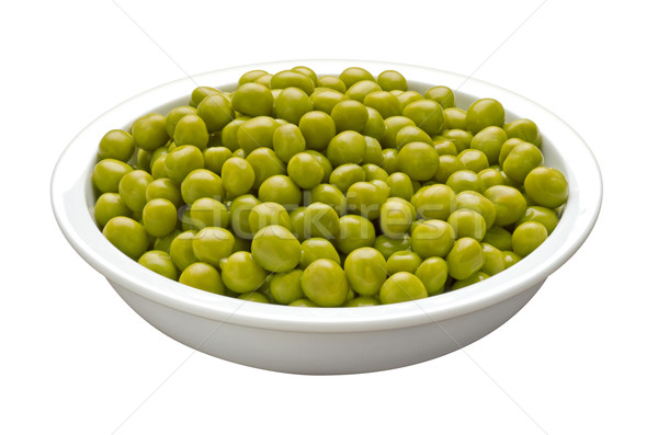Bowl of Peas isolated with a clipping path Stock photo © danny_smythe