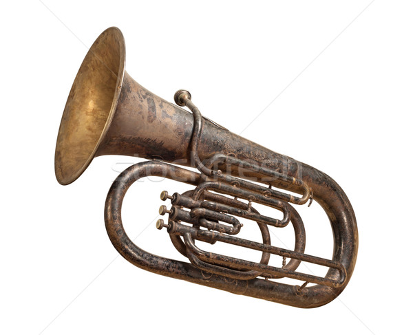 Antique Tuba isolated with a clipping path Stock photo © danny_smythe