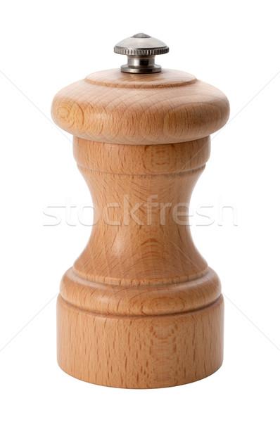 木製 コショウひき 孤立した テクスチャ 唐辛子 ストックフォト © danny_smythe