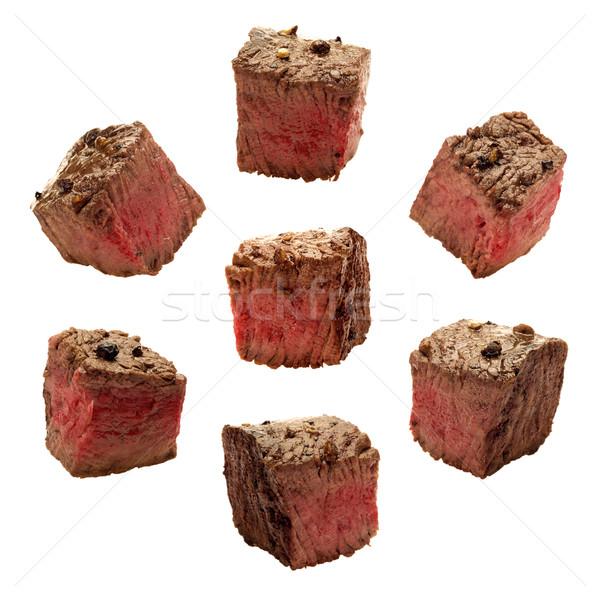 Et yalıtılmış beyaz biftek nesne makro Stok fotoğraf © danny_smythe