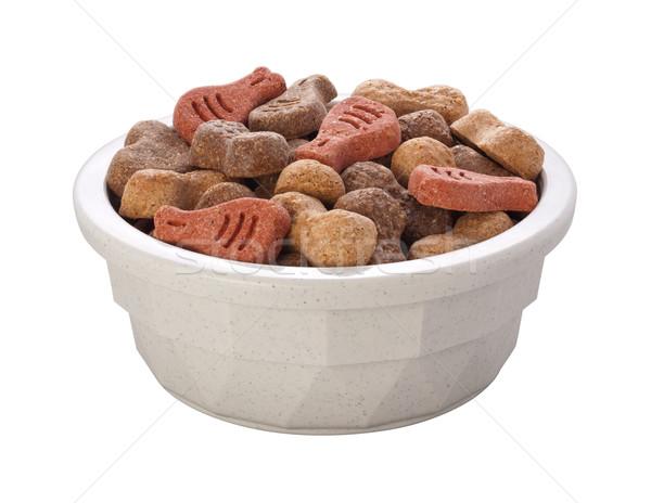 Dog Food Bowl isolated Stock photo © danny_smythe