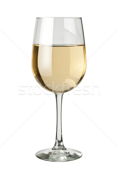 White Wine and glass isolated Stock photo © danny_smythe