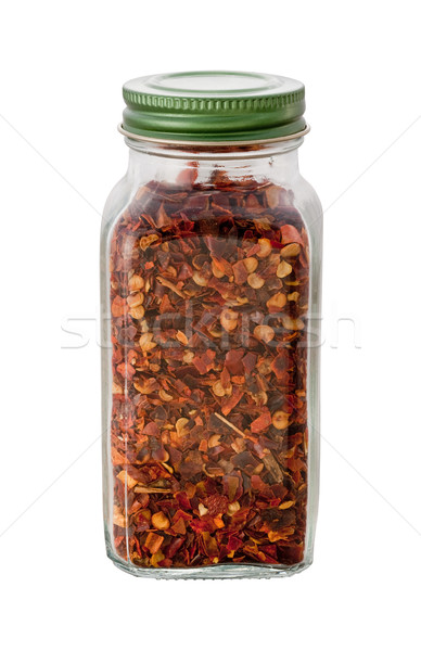 Crushed Red Pepper Bottle isolated Stock photo © danny_smythe