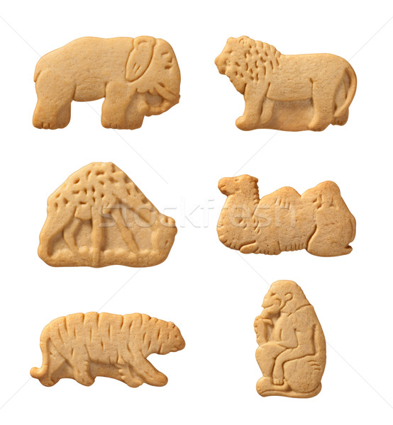 Animal Crackers isolated with a clipping path Stock photo © danny_smythe