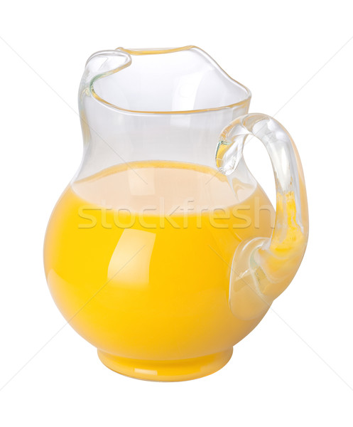 Portakal suyu yalıtılmış beyaz meyve cam Stok fotoğraf © danny_smythe