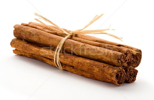 Cinnamon Bundle Isolated on white Stock photo © danny_smythe