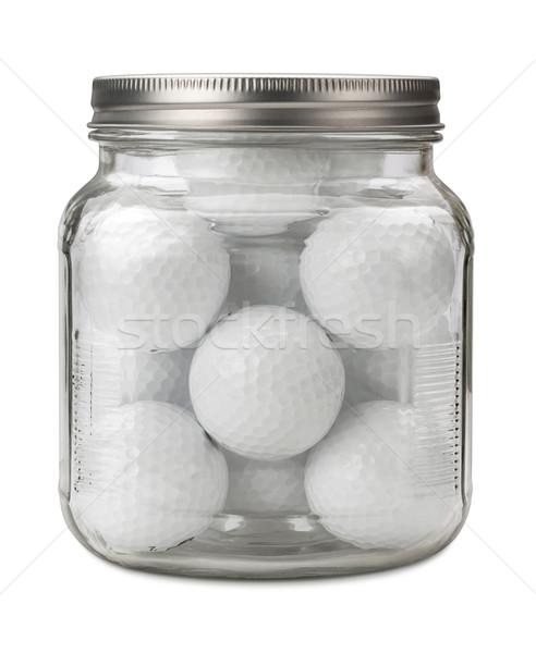 гольф банку изолированный белый спорт Сток-фото © danny_smythe