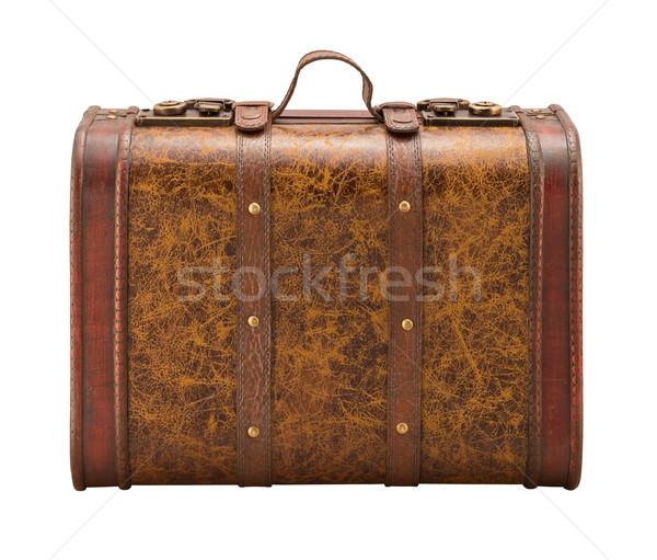старые чемодан изолированный белый ретро Сток-фото © danny_smythe