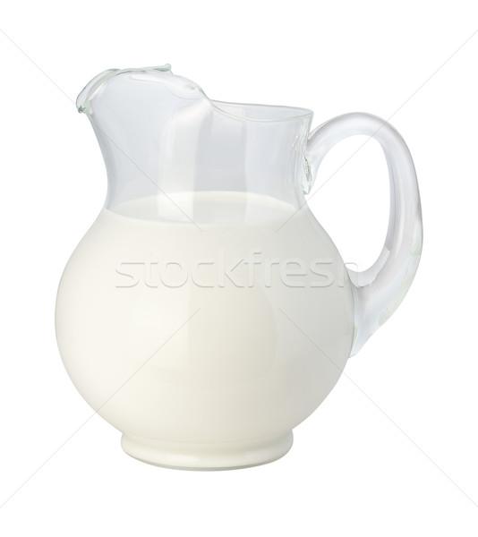 молоко изолированный белый стекла жидкость Сток-фото © danny_smythe
