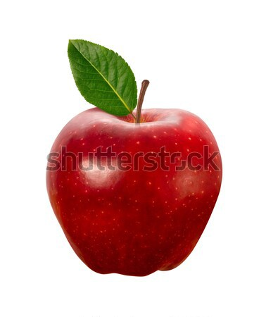 Stock photo: Red Apple isolated with clipping path