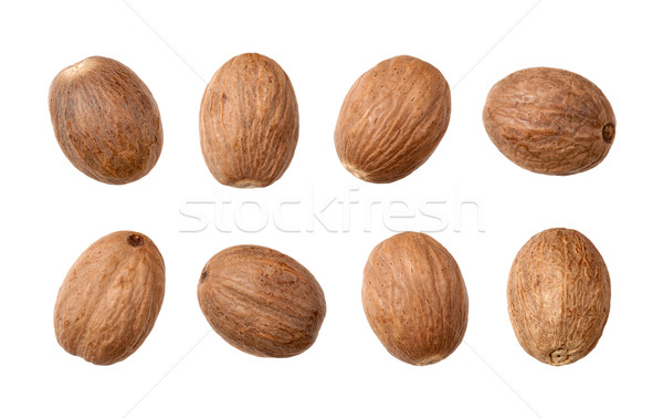 Nutmeg isolated on white Stock photo © danny_smythe