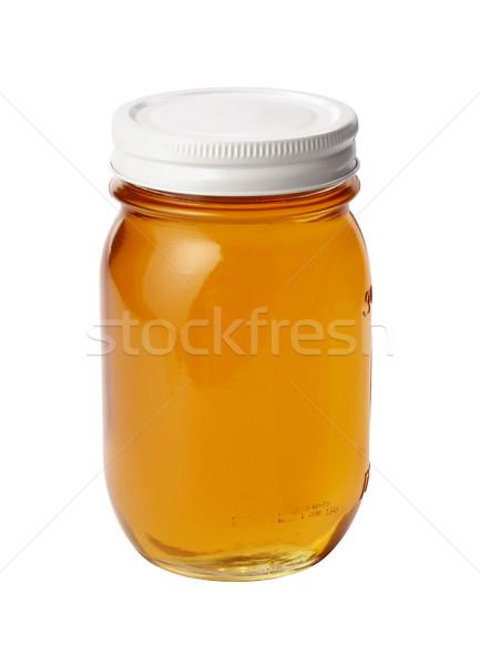 Bal kavanoz yalıtılmış beyaz gıda arı Stok fotoğraf © danny_smythe