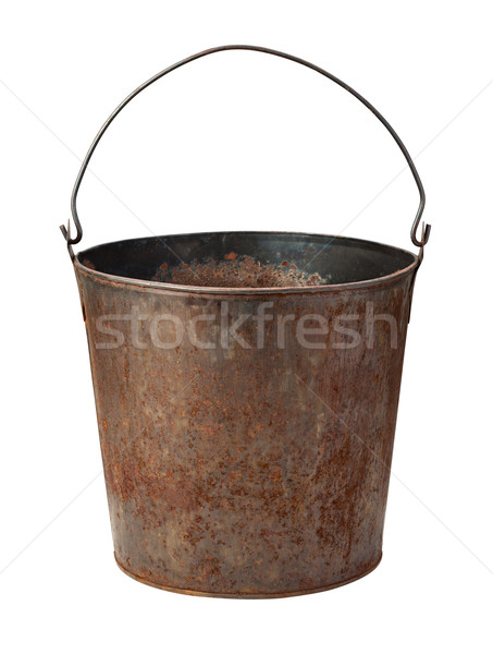 Old Rusty Bucket isolated with clipping path Stock photo © danny_smythe