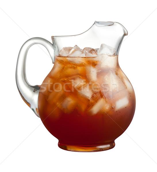 Ice Tea Pitcher isolated Stock photo © danny_smythe