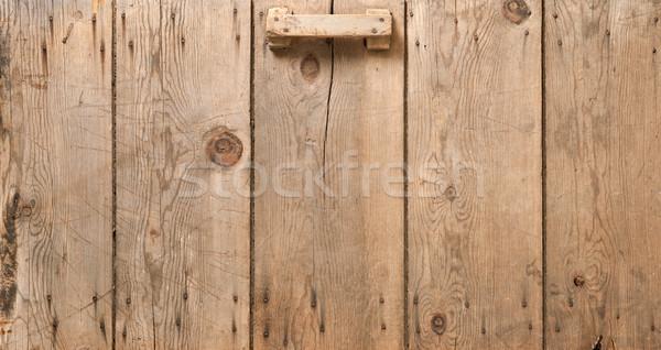 Old Corn Crib Door Stock photo © danny_smythe