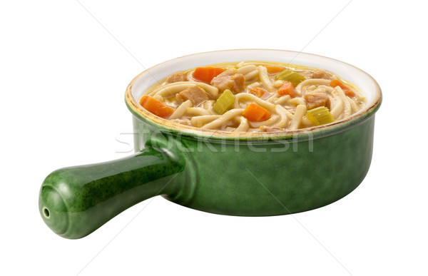 Chicken Noodle Soup isolated Stock photo © danny_smythe