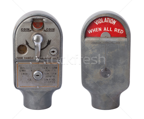 Antique Parking Meter Isolated on White Stock photo © danny_smythe