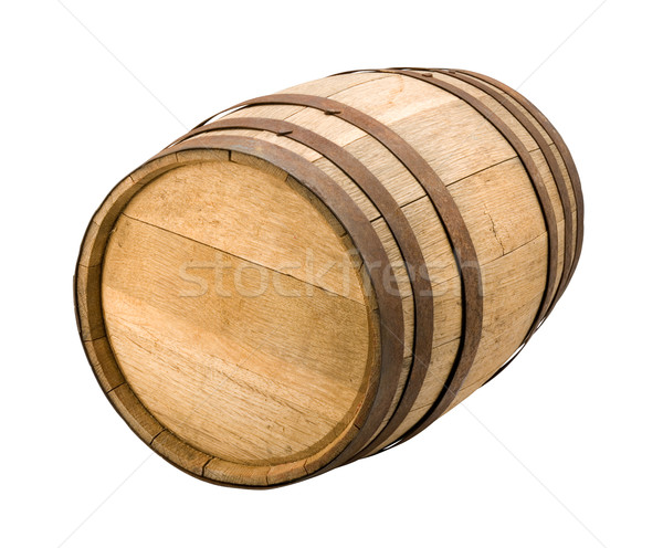 Alten Barrel isoliert weiß Holz Stock foto © danny_smythe