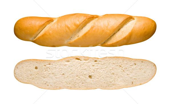 Ekmek somun dilim yalıtılmış beyaz Stok fotoğraf © danny_smythe
