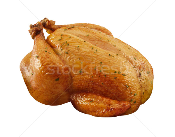Roasted Chicken isolated Stock photo © danny_smythe