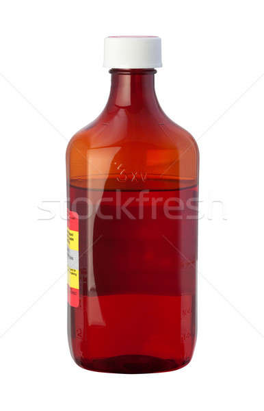 Cough Syrup Medicine Bottle with a clipping path Stock photo © danny_smythe