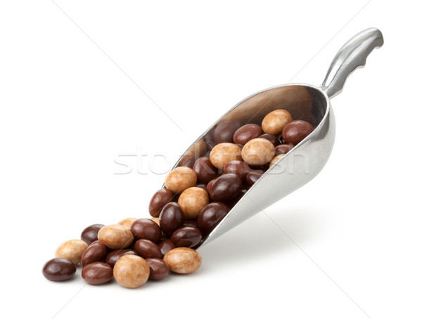Three Chocolate Toffee Scoop Isolated  Stock photo © danny_smythe
