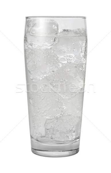 Club Soda Water Isolated with clipping path Stock photo © danny_smythe