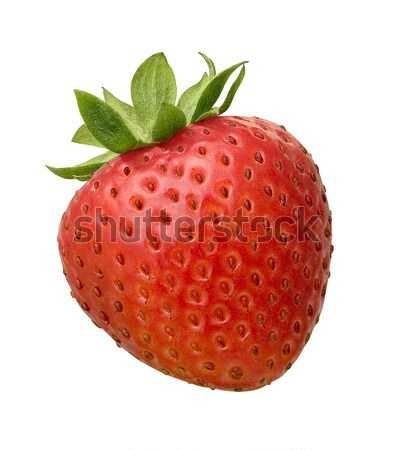 Photo stock: Fraise · isolé · blanche · feuille · fruits · rouge
