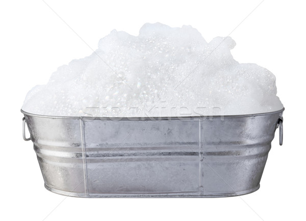 Soap Suds and Bubbles in a Tub isolated Stock photo © danny_smythe