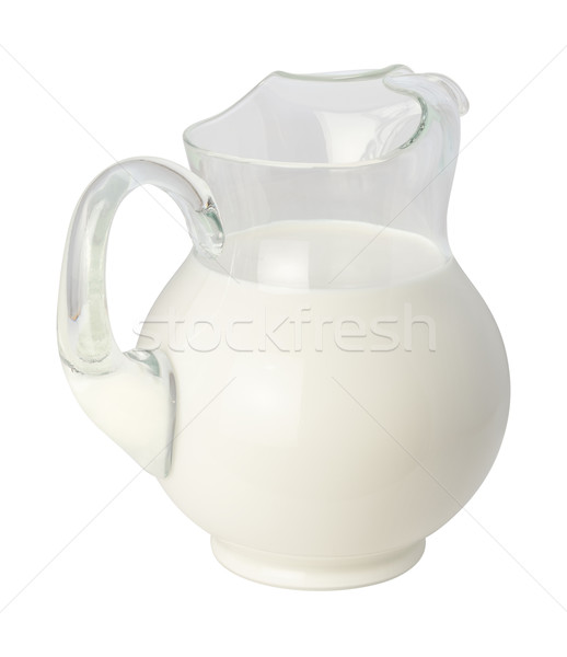 Stok fotoğraf: Süt · yalıtılmış · beyaz · cam · sıvı