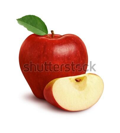 яблоко ломтик изолированный белый продовольствие природы Сток-фото © danny_smythe