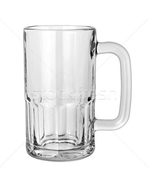 Vazio cerveja caneca isolado branco Foto stock © danny_smythe