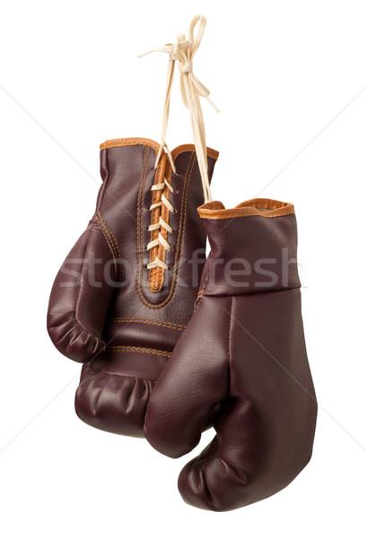 Vintage Boxing Gloves isolated Stock photo © danny_smythe