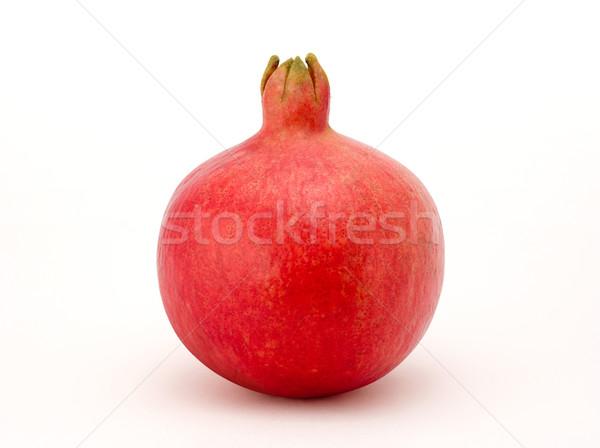 Nar yalıtılmış beyaz meyve kırmızı tropikal Stok fotoğraf © danny_smythe