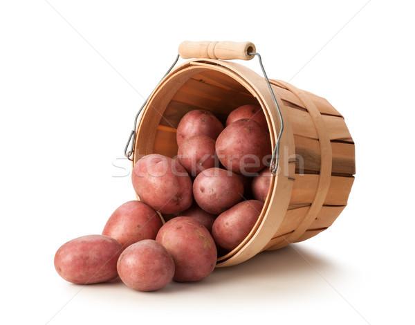 красный картофель корзины изолированный белый группа Сток-фото © danny_smythe