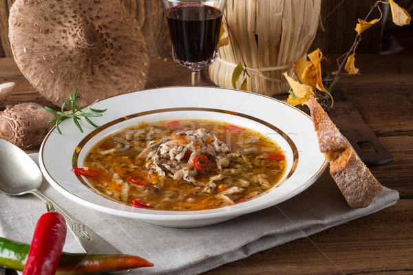 パラソル キノコ スープ 食品 ディナー 調理 ストックフォト © Dar1930