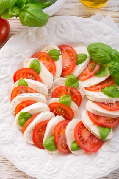 tomato with mozzarella cheese Stock photo © Dar1930