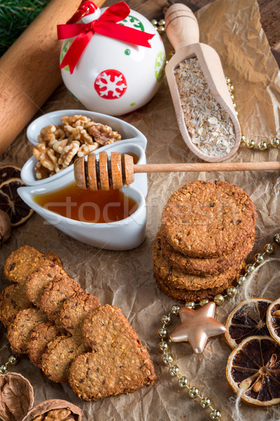 Christmas little places oatmeal Stock photo © Dar1930