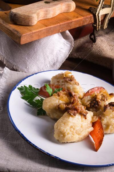 Aardappel plaat koken lunch vers maaltijd Stockfoto © Dar1930