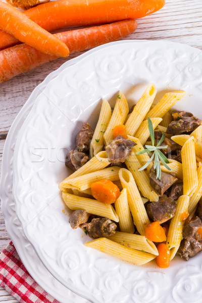 penne with goulash Stock photo © Dar1930